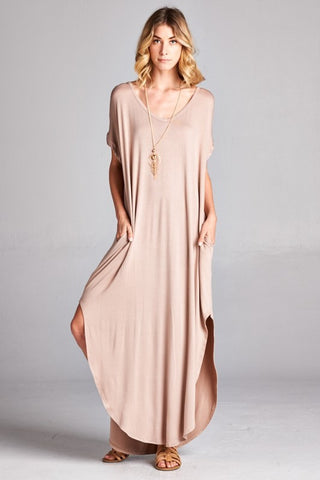 Loose Fit Boyfriend Maxi Dress