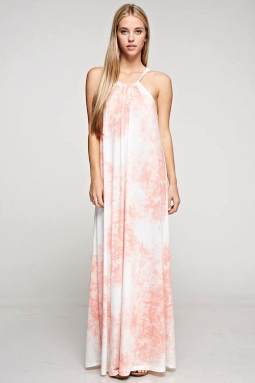 Sleeveless Tie-Dyed Maxi Dress