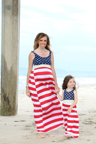 Patriotic Maxi - Mommy and Me