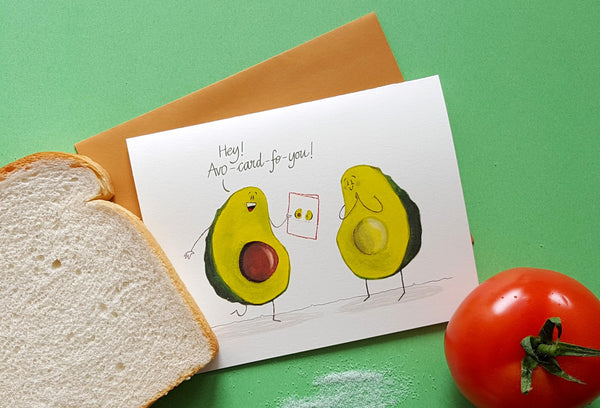 Funny avocado everyday card - avo-card-fo-you