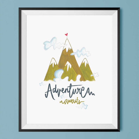 Adventure Awaits - Art Print