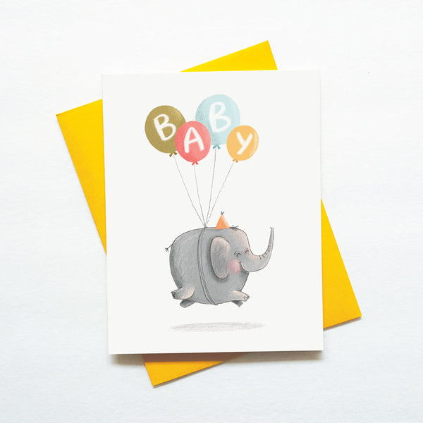 cute new baby elephant card