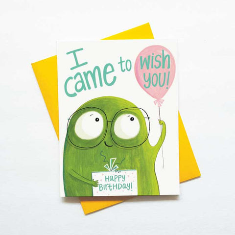 I came to wish you - cute monster card