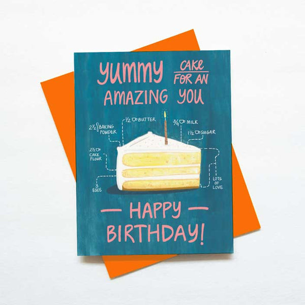 Cake Recipe Birthday Card