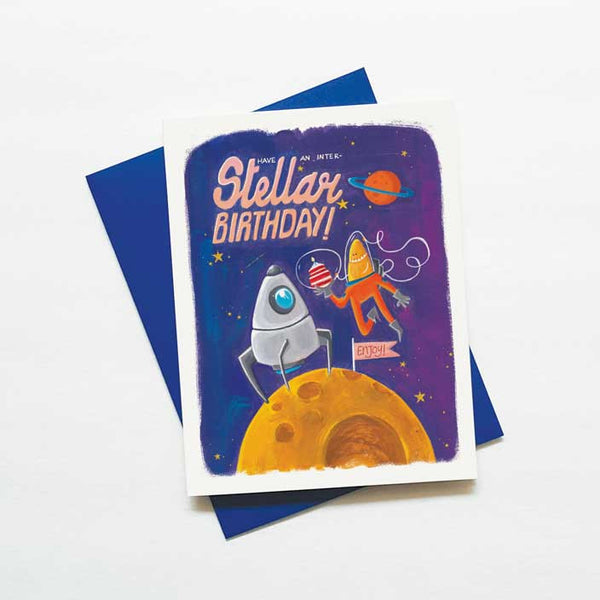 Inter - stellar martian birthday card