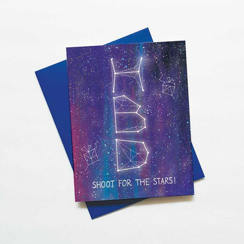 Shoot for the stars galaxy birthday card