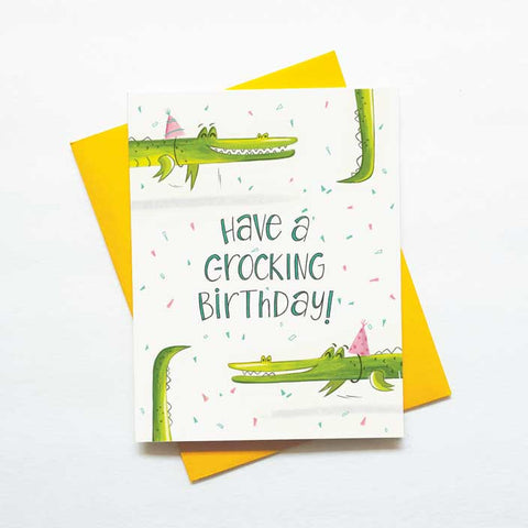 crocodile birthday funny card