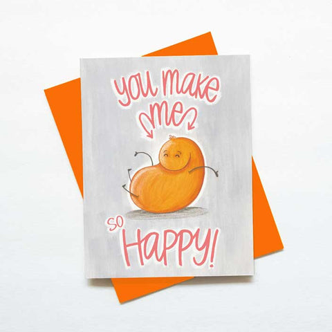 You make me so happy monster card