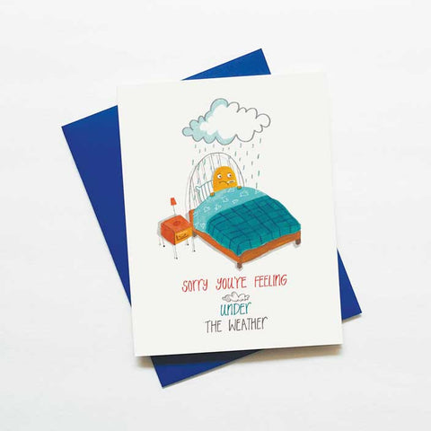 Feeling under the weather - get well soon card