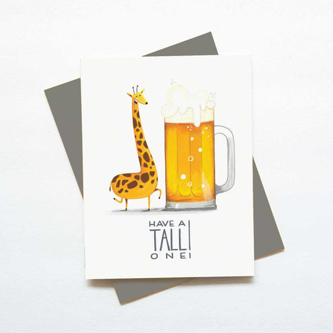 Tall One - Beer Birthday Card
