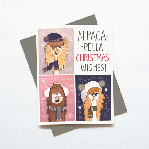 Alpaca-pella Christmas card