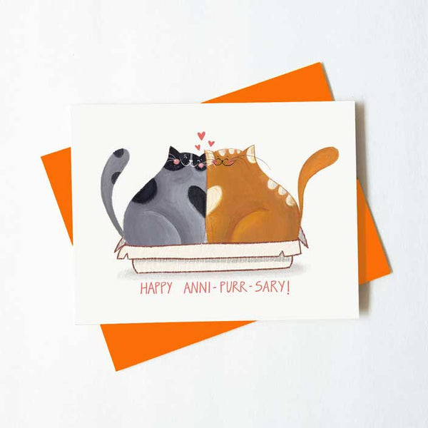 Happy Anni-purr-sary anniversary cat card