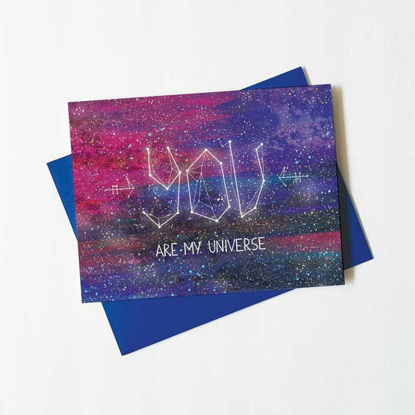 you are my universe constellation love card - green bean studio