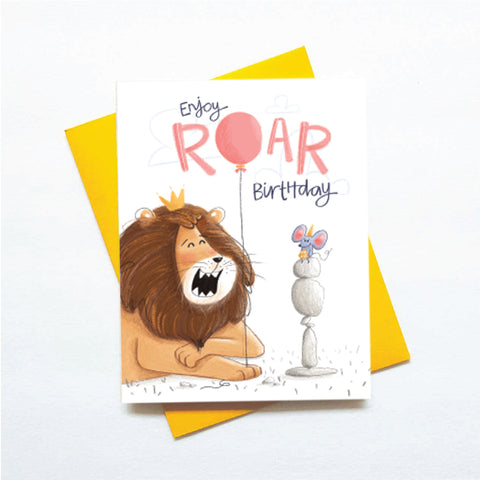 cute lion birthday card