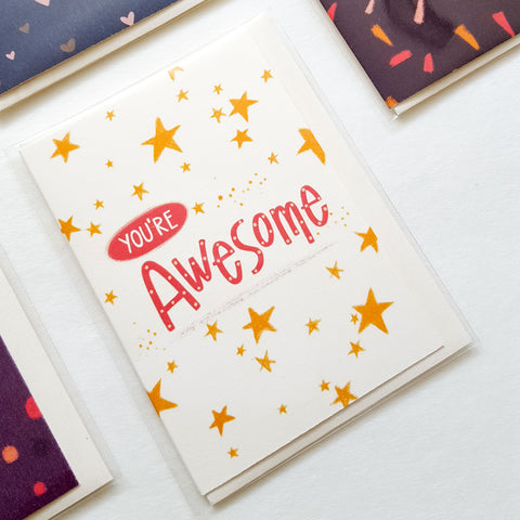 you're awesome mini card