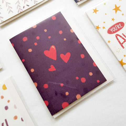 Hearts - Mini Card