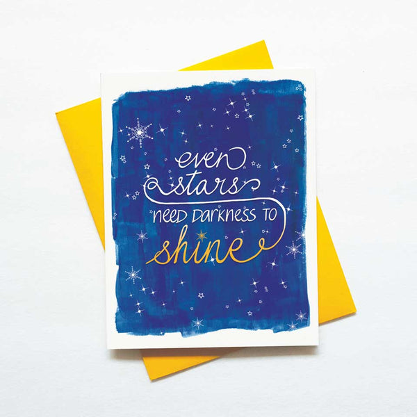stars need darkness motivational card