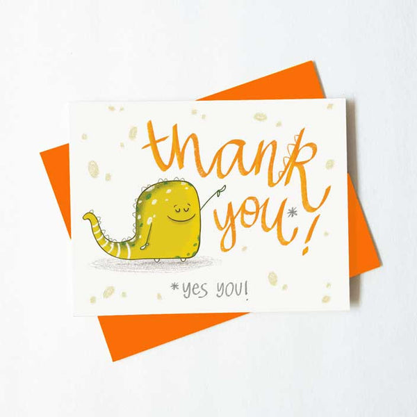 Cute monster thank you -yes you card