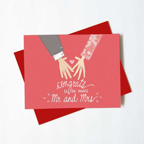 Congrats to the newest Mr and Mrs - wedding card