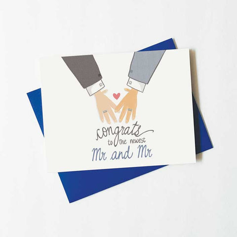 Mr. and Mr. wedding congratulations card