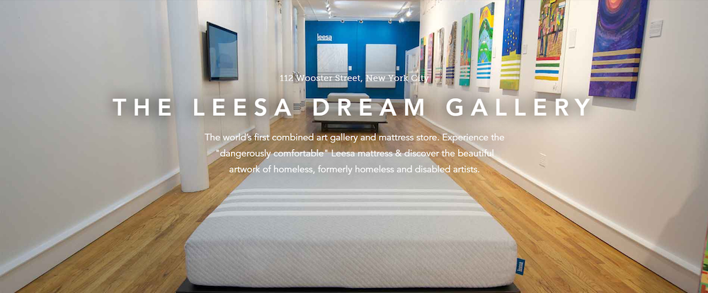 Physical mailer to The Leesa Dream Gallery