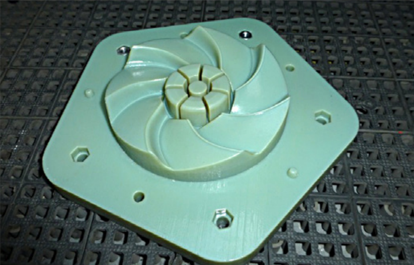 Picture of 3D printed plastic mold