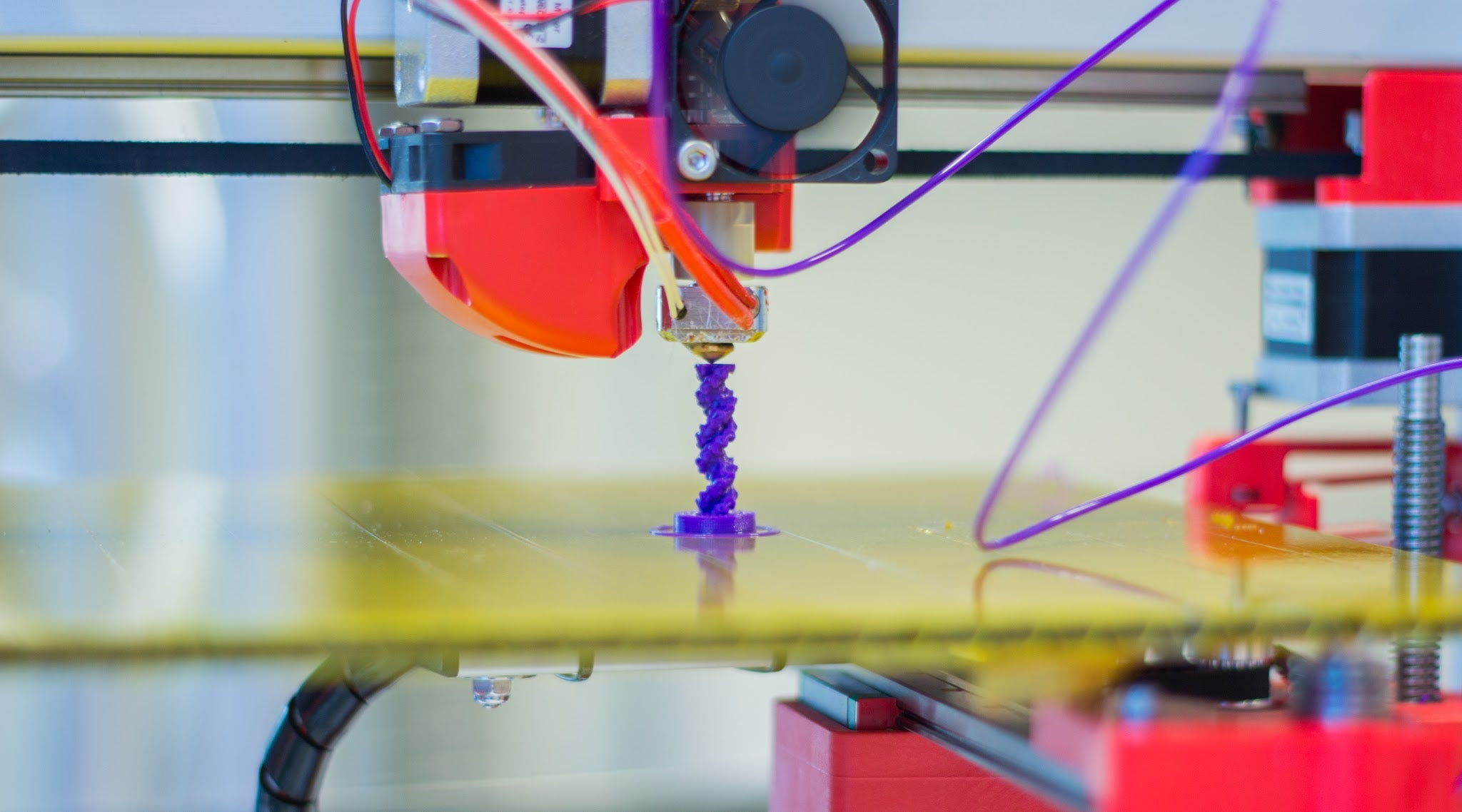 Picture of a 3D printer at work