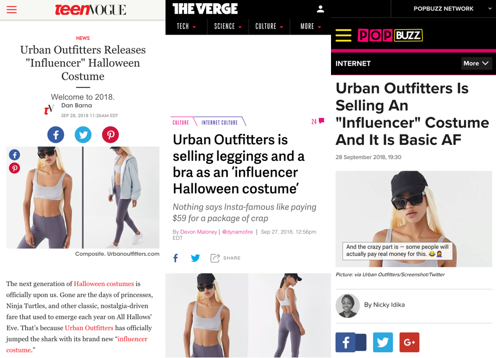 Urban Outfitters viral Halloween marketing campaign