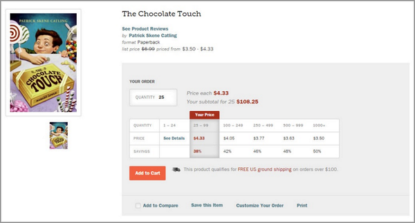 B2B ecommerce strategy BookPal pricing table
