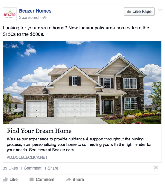 Using facebook ads to make local markets adore you for Cost to build a house in indiana