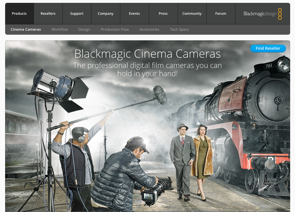 Blackmagic Design could use Shopify Buy Buttons transform their site into an ecommerce hub
