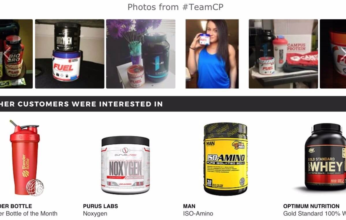 User-generated content in the form of pictures on product pages