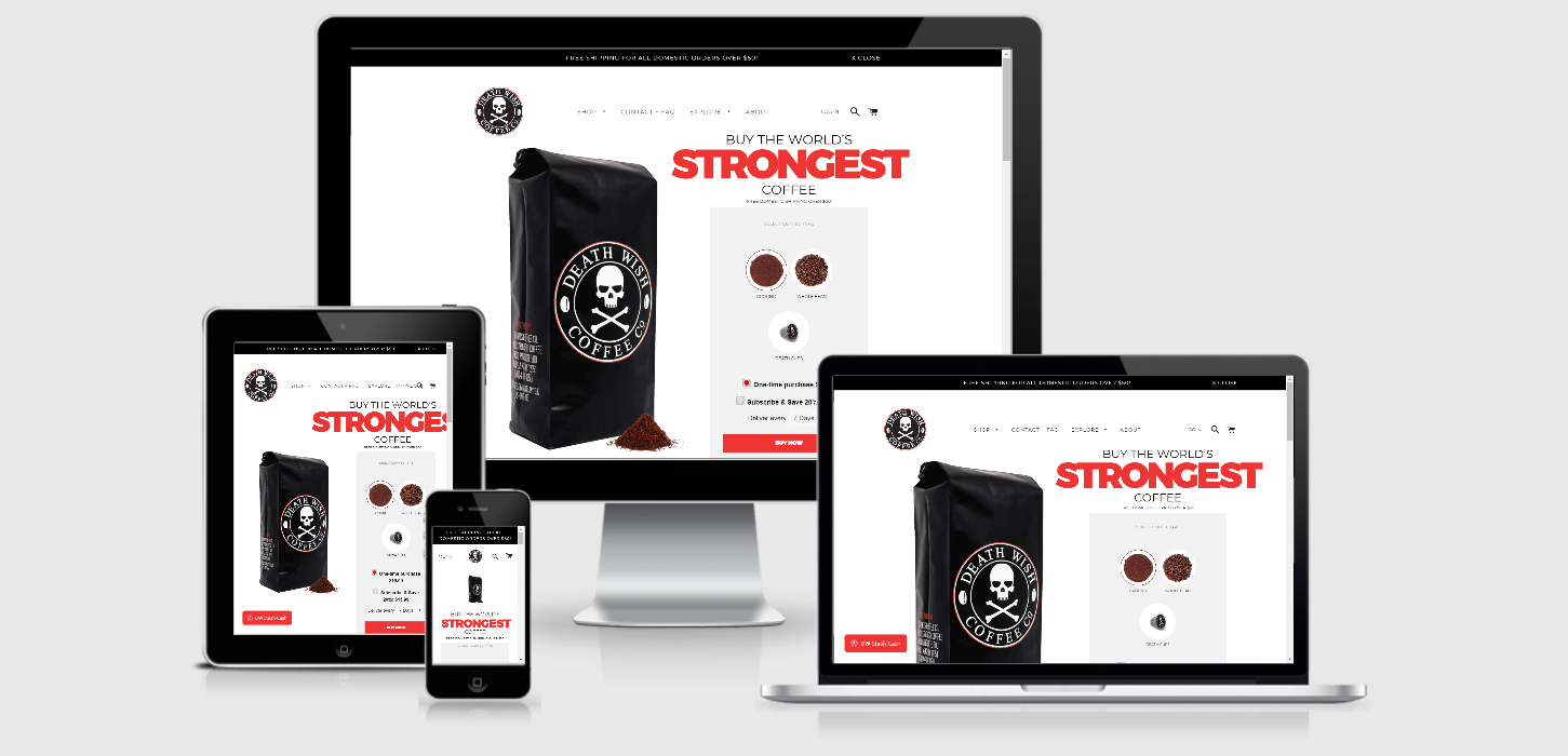 Death Wish Coffee why replatforming to Shopify Plus improved their business