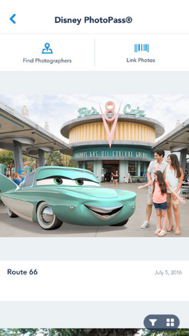 Disneyland app PhotoPass