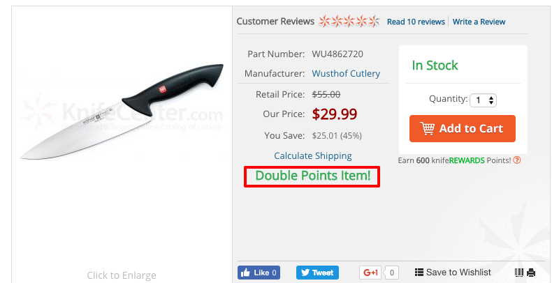 Offer Double Points on Select Items to Incentivize Buyer Behavior