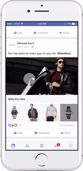 Facebook Product Collection Ad - omni-channel Retailing