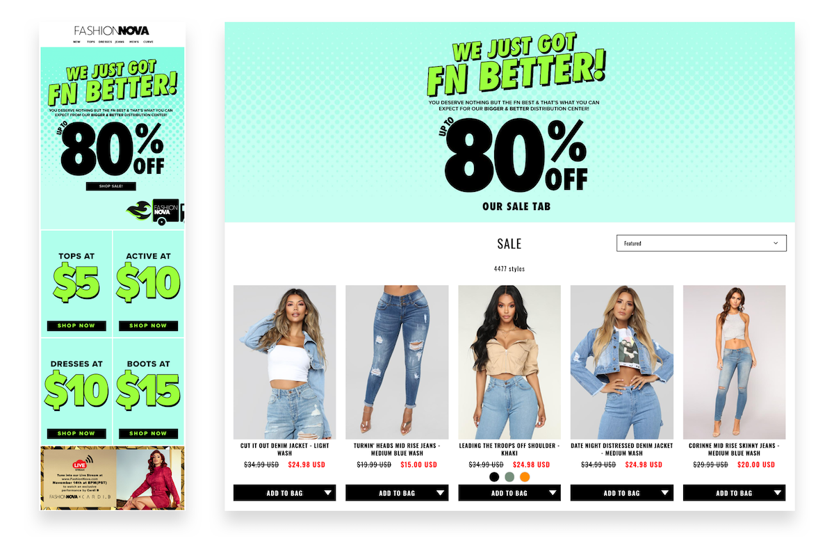 Fashion Nova flash sale