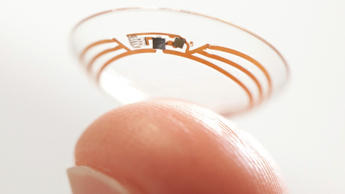 Image of a smart contact lens by Google