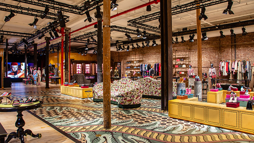 Luxury ecommerce brand Gucci's new Soho New York shop