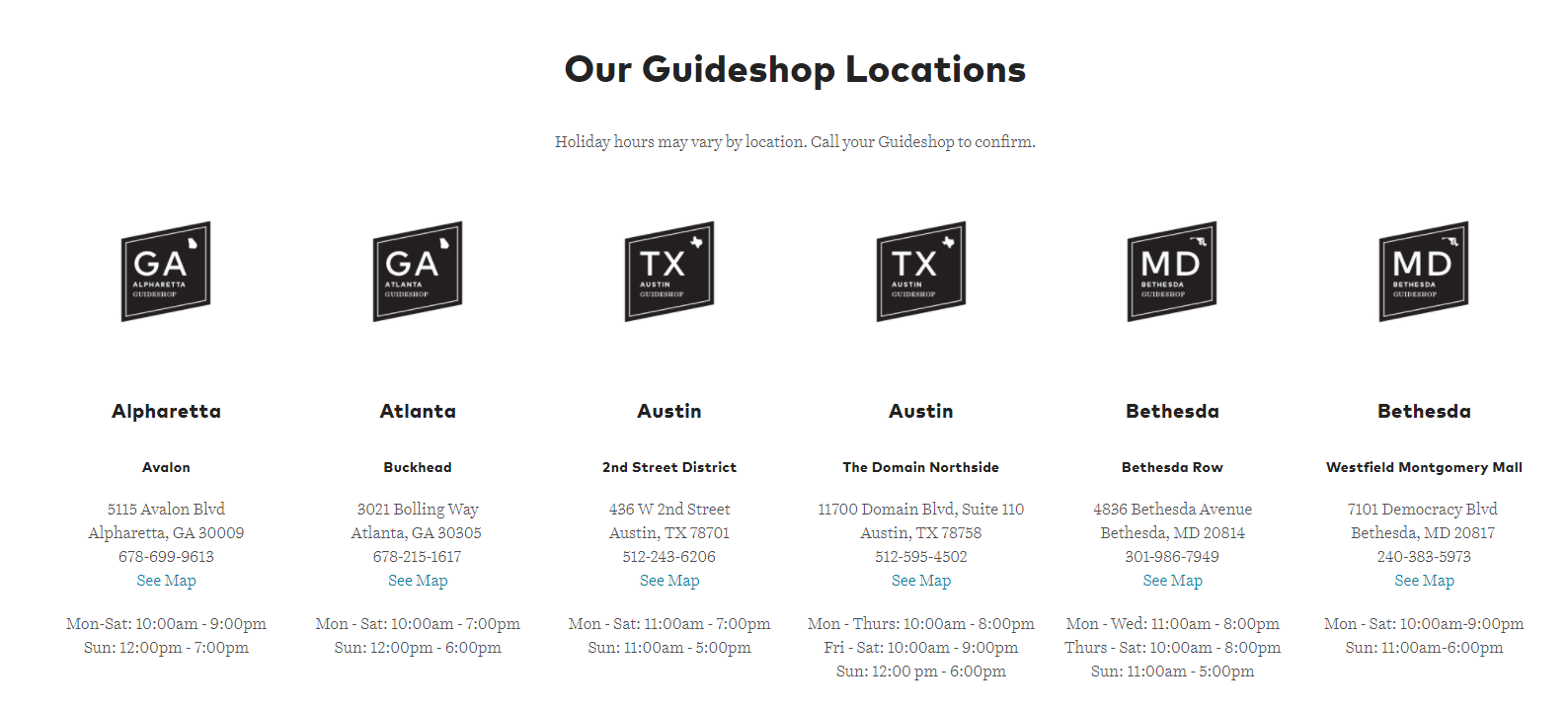 Guideshops locations