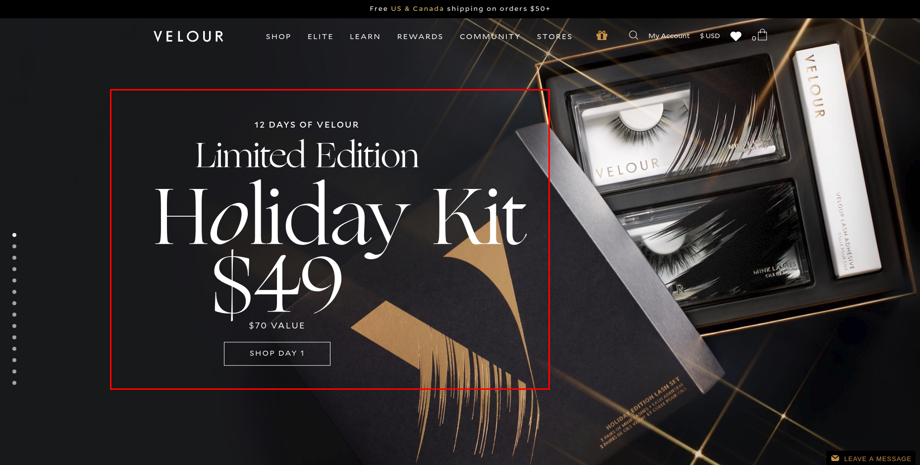 Velour Lashes automates holiday sales events using Shopify Launchpad