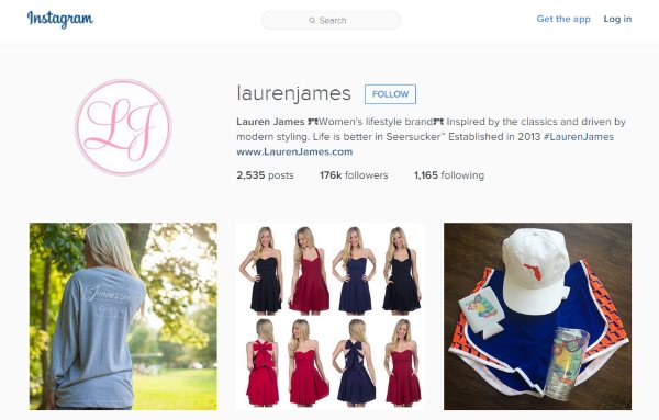 Lauren James Instagram account screenshot
