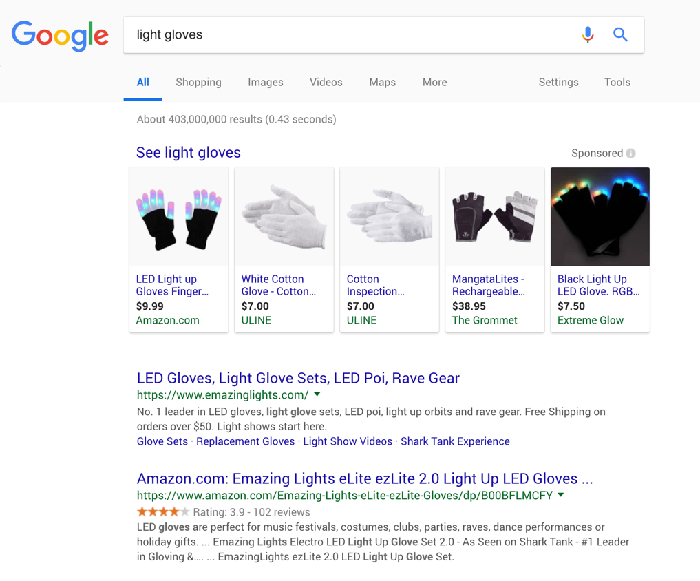 Search results for light glove
