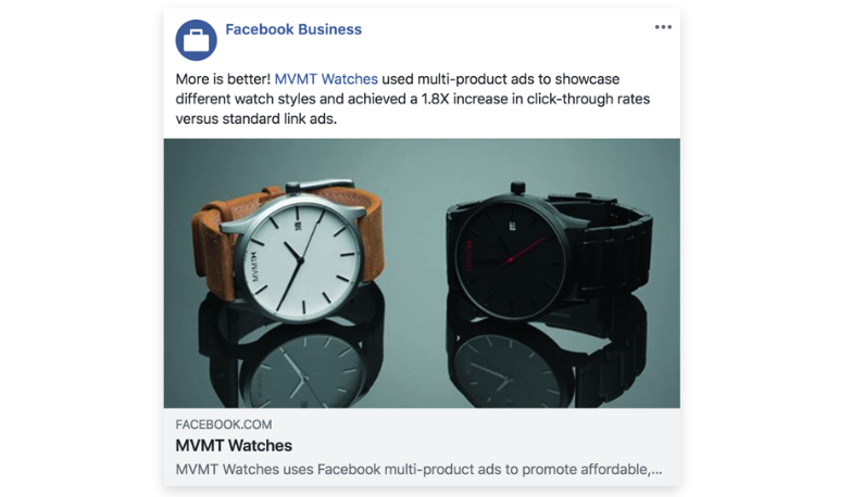 MVMT Watches Facebook Store Mobile Shopping