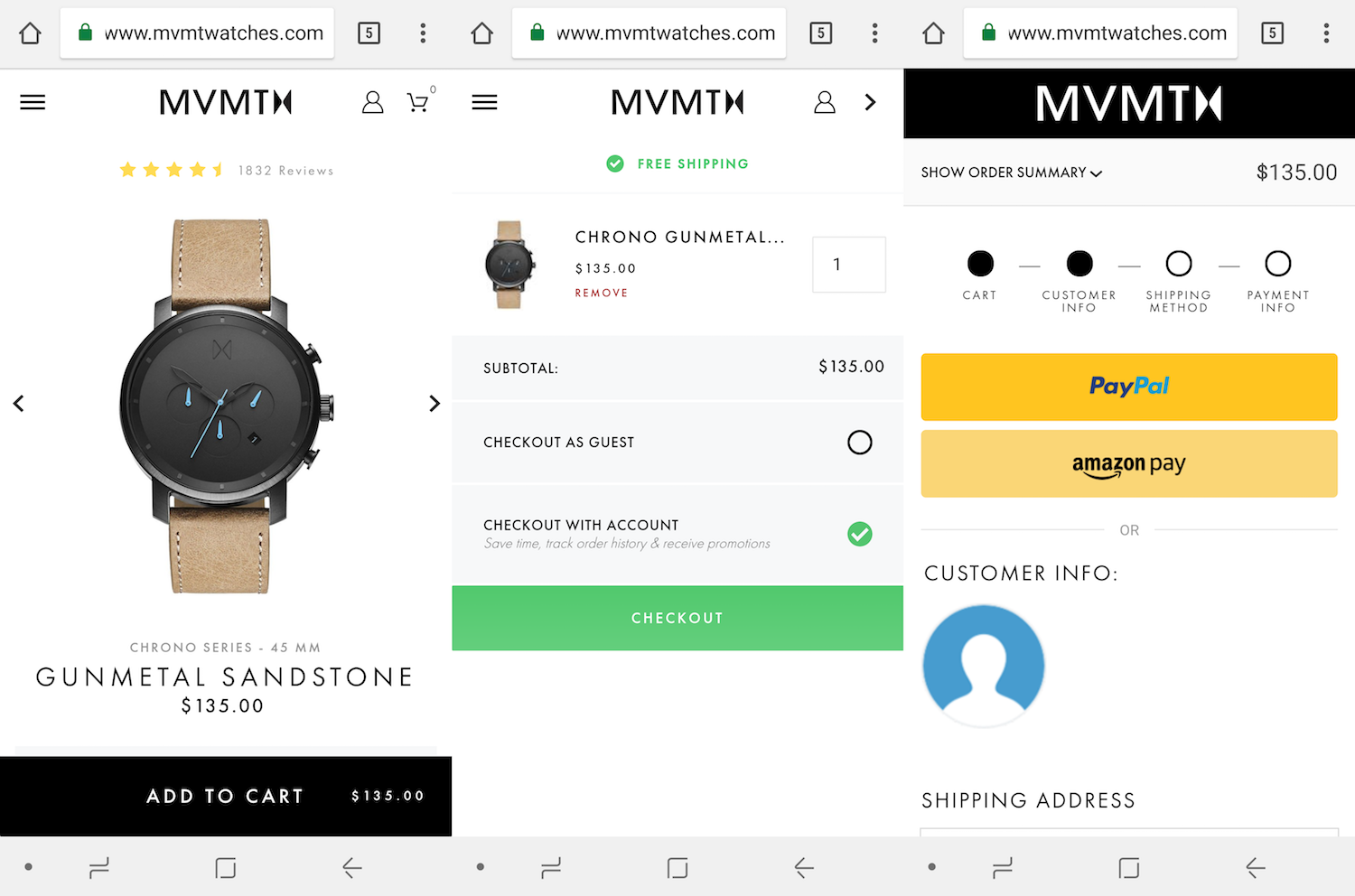 MVMT's mobile checkout optimizes the first online shopping trend