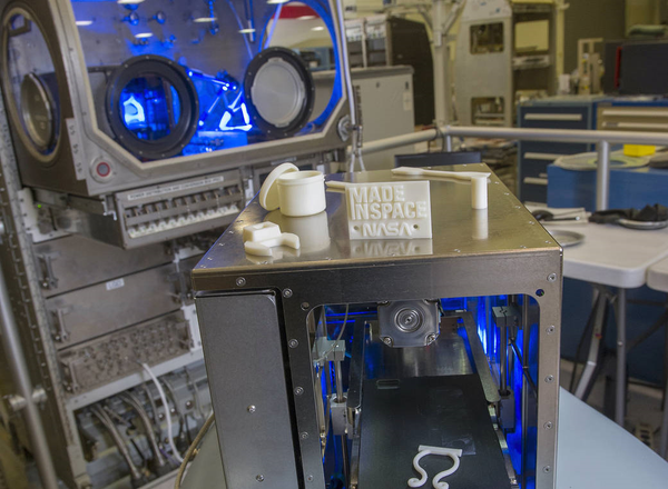 Pictures of 3D printed objects that were printed in space