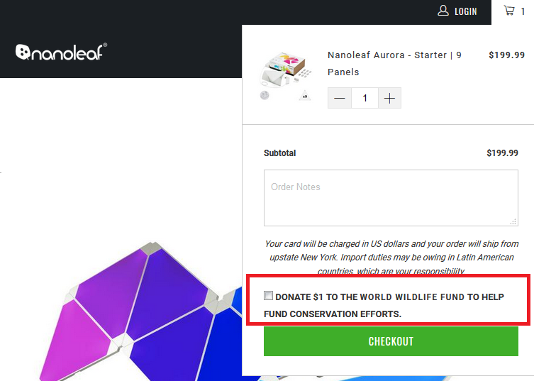 How Nanoleaf Uses Shopify Plus To Expand Internationally & Allow For Charitable Donations At The Checkout