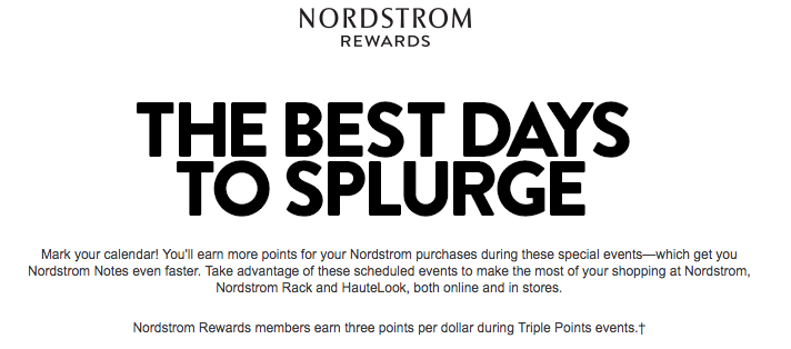 Nordsrom Bonus Points Days Gives Customers a Reason To Get Excited