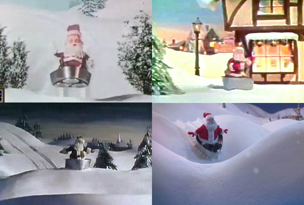 Norelco's Santa holiday campaigns