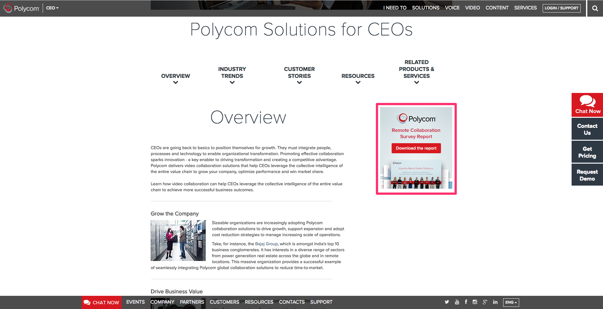 Polycom solutions for CEOs